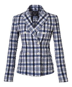 """T-Jacket SS 2016 double-breasted """"Blue Grate"""". Discover the new collection on www.tonello.net"""