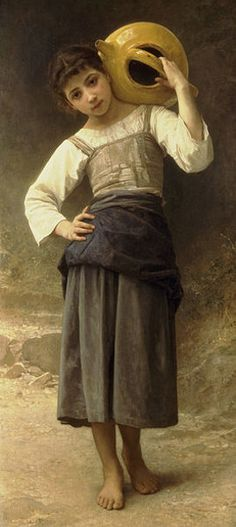 Jeune fille allant à la fontaine-William Adolphe Bouguereau (1825 – 1905, French)