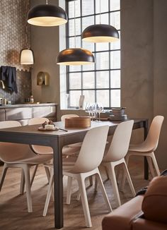 A kitchen fit for open plan living - IKEA Chaise Ikea, Ikea Chair, Ikea Table, Bar Chairs, Dining Chairs, Dining Table, Side Chairs, Dining Room Design, Dining Area