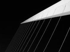 Lines and shadows, black and white. Women's Bridge, Puerto Madero, Buenos Aires, Argentina. June 2012