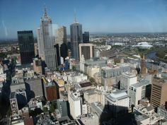 Ariel view of Melbourne, MCG in the background