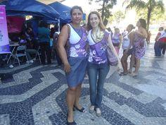 Luciene Fernandes (Conselheira Fiscal da Sintalocas) e Flávia Almas (jornalista)