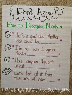 Creating Readers and Writers: 5 Anchor Charts to Support Reading Discussions