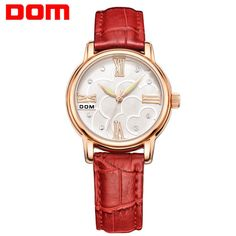 DOM Thin Leather Strap Watch for Women //Price: $40.99 & FREE Shipping //   https://www.freeshippingwatches.com/shop/dom-thin-leather-strap-watch-for-women/    #watches