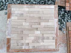 White/Grey Wooden Marble Mosaic Tile