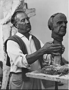Marino Marini (1901-1980), He attended the Accademia di Belle Arti in Florence in 1917. He never abandoned painting, Marini devoted himself primarily to sculpture from about 1922. From this time his work was influenced by Etruscan art and the sculpture of Arturo Martini.