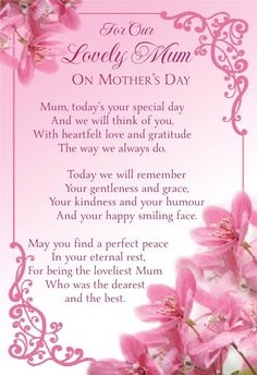 Mothers Day Graveside Bereavement Memorial Cards VARIETY
