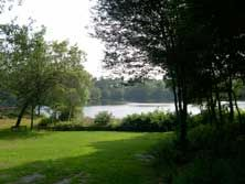 Houghton's Pond Recreation Area, in Milton.  Quick drive from the city to a pond that's easy with kids. Opens at 10am. Great morning out on a hot day.