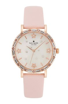 Crushing on this pastel pink and rose gold Kate Spade watch.