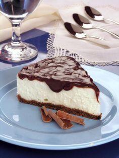 Torta de coco com chocolate