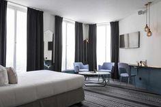 Нotel Panache расположился в самом центре Парижа, Франция и был спроектирован дизайнерами Adrien Gloaguen и Dorothée Meilichzon