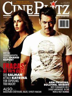 Salman Khan and Katrina Kaif on The Cover of CineBlitz Magazine India July 2012. | Bollywood Cleavage