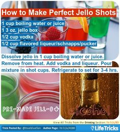 Drinking - How to Make Perfect Jello Shots
