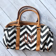 MONOGRAMMED CHEVRON SATCHEL BAG Monogram Bags, Satchel Bag, Monograms, Louis Vuitton Speedy Bag, Preppy, Personalized Gifts, Gym Bag, Chevron, Initials