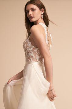 1400e3c49faa3 BHLDN Norah Top & Delia Maxi Skirt in Bride | BHLDN Bhldn, Wedding  Attire