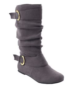 Loving this Gray Perth Wide-Calf Boot on #zulily! #zulilyfinds