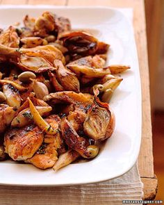 Roasted Chicken and Jerusalem Artichokes
