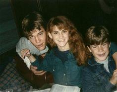 Josh Brolin Kerri Green and Sean Astin on set of The Goonies in 1984.