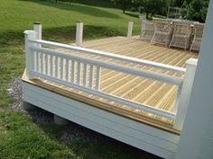 Outdoor Curtains For Patio, Outdoor Decor, Garden Structures, Outdoor Structures, Wood Deck Railing, Front Deck, Side Yards, Wooden Decks, Deck Design