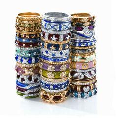 Hildago stack rings. I freaking LOVE Hildago rings.