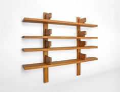 For Sale on - Pierre Chapo bookshelf in solid elm, France, This elemental wooden bookshelf, 'The Bibliothèque' model no. Modern Dining Room Tables, Leather Dining Room Chairs, Modern Bookcase, Modern Sideboard, New York 2017, Antique Shelves, Professional Painters, Wall Mounted Shelves, Modern Cabinets
