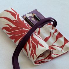 Stunning Pencil Roll or Pen Case, Unique Handprinted Fabric, Great Teen Gift, Free US Shipping. $18.00, via Etsy.