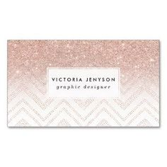 chevron sparkle rose gold business cards rosegold rose gold rosegoldfoil - Rose Gold Business Cards