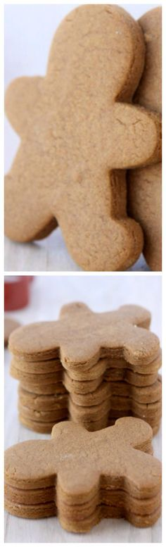 Gingerbread Cookies That Won't Spread ~ Looking for the perfect gingerbread cookie recipe? Here you go! These cookies keep their shape, and won't spread during baking!