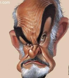 Sean Connery caricature . ...FOLLOW THIS BOARD FOR GREAT CARICATURES OF PEOPLE WE KNOW..I'LL BE ADDING NEW PINS DAILY..