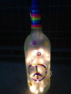 Peace sign wine bottle!! on Etsy, $23.00