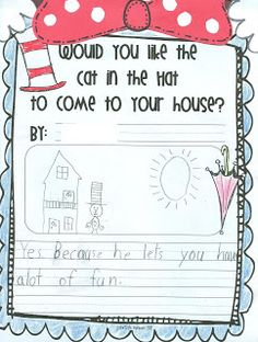 First Grade Fever!: Dr. Seuss Writing Prompt