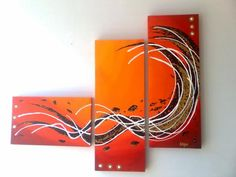 cuadros tripticos Multiple Canvas Paintings, Simple Acrylic Paintings, Acrylic Art, Joy Art, African Paintings, Painting Workshop, 3 Piece Art, Wall Art Pictures, Teaching Art
