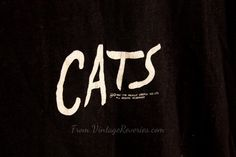 Rare 1981 Cats Musical TShirt Large   Free by VintageReveries, $27.99