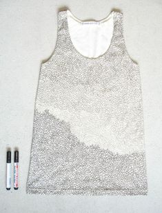 draw on tanks with fabric markers!