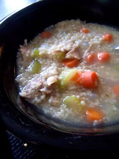 Simple Turkey Soup with Whole Wheat Couscous More