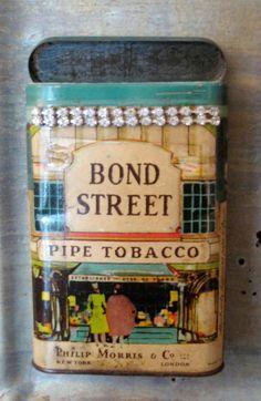 Vintage / Repurposed Bond Street Tobacco Tin by hoitytoitydesigns, $16.95