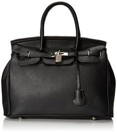 61b768db8b62 MG Collection Hessa Decor Lock Office Shoulder Bag Hessa, Convertible,  Fashion Handbags, Designer