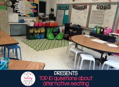 A Trendy Teacher: Alternative Classroom Seating (at the very least, this is an interesting read) New Classroom, Classroom Setup, Classroom Design, Classroom Organization, Booth Seating, Lounge Seating, Seating Plans, Office Waiting Rooms, Seat Toledo