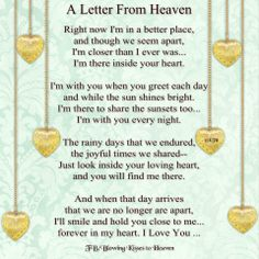21 Best Heaven poems images in 2015 | Poems, Letter from heaven