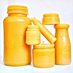 Beeswax Candles: Round Candle Gift Set, Beeswax Pillars, Beeswax Votives