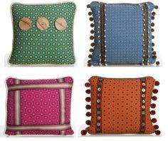 Home-made Shweshwe-Cushions for patio