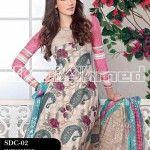 Gul Ahmed Summer 2013 Embroidered Fabrics