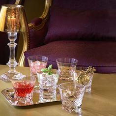 Baccarat crystal glasses set