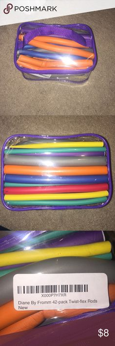 Pack of 42 Heatless Curlers! These have been used once. They come in all sorts of different sizes and curl hair beautifully. They are foam and you wrap your hair around them, then bend the foam into place securely. Diane Accessories Hair Accessories