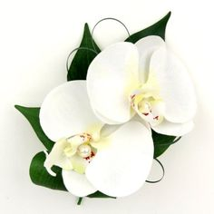 White Orchid Corsage--so pretty with the two flowers