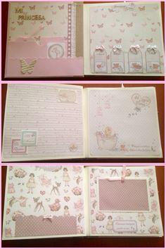 Mini Album Scrapbook, Scrapbook Bebe, Baby Girl Scrapbook, Mini Albums Scrap, Scrapbook Pages, Baby Mini Album, Baby Journal, Interactive Cards, Baby Cards