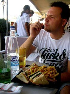 Greece, Crete, Rethymnon. Me enjoying my vacation. August 2011.