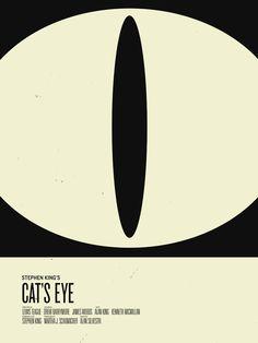 Cat's Eye (Stephen King minimalist movie poster) | By: Nicholas Tassone, via GeekTyrant