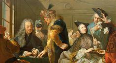 Gamblers at the Ridotto - Johann Heinrich Tischbein the Elder - circa 1753-1756