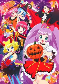 "artbooksnat: "" Great ensemble poster by the PriPara (プリパラ) character designer Shoji Hara (原将治), illustrated as a magazine extra in the October 2014 issue of Animage. """